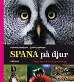 """Omslagsbild till boken """"Spana på djur""""."""