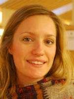 Charlotta, besökare på Stadsbiblioteket i Uppsala