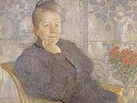"""Selma Lagerlöf, målning av Carl Larsson. Bild ur boken """"Carl Larsson. Skildrad av honom själv"""", sidan 216, Stockholm:Bonniers 1952. ISBN 9915140819 Bildkälla: Wikipedia Commons"""