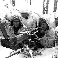 Soldater i finska vinterkriget. Bildkälla: Wikimedia Commons