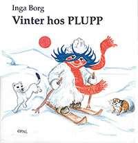 """Omslag till boken """"Vinter hos Plupp""""."""