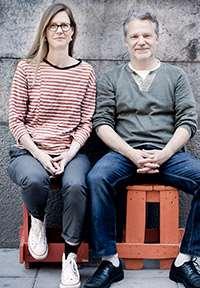 Helena Willis och Martin Widmark. Foto: Ulrica Zwenger