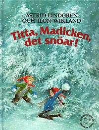 Omslagsbild till Titta Madicken det snöar.