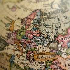 Gammal karta över Europa