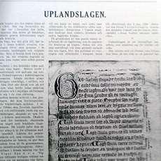 Artikel om Upplandslagen i UNT.s julnummer.