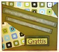 Gabriellas egentillverkade papperskort med mönster